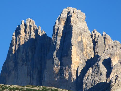 An out of ordinary view of Lavaredo North Faces