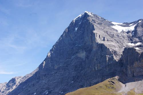 Classic view off the Eiger Northface