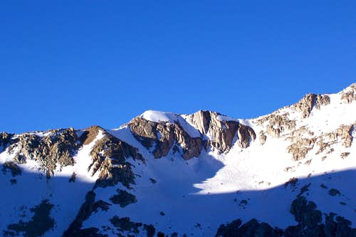 Ridgeline to the north of Bishop Pass