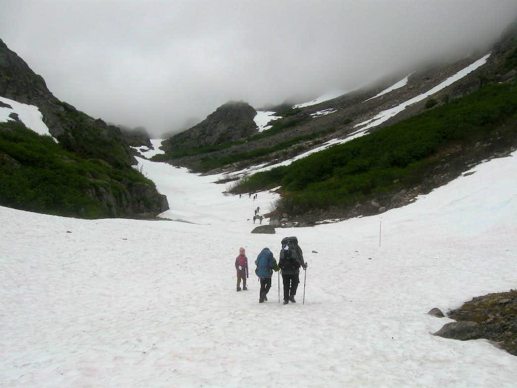 Towards the Chilkoot Pass