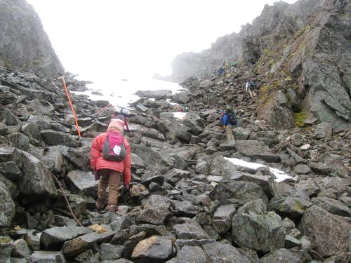 Climbing up to the Chilkoot Pass
