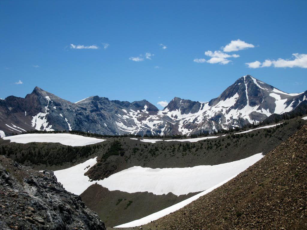 Mt. Baldwin and Red Slate Mountain