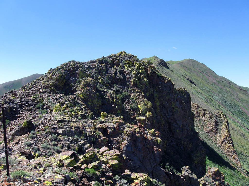 One of the rocky areas on the way