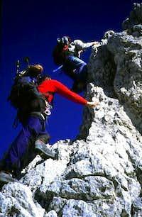 Climbing the Wettersteingrat