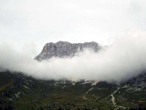 coated in clouds.....