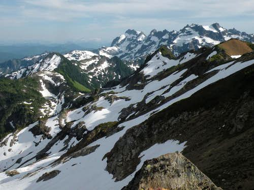 The high ridge to Cadet\'s northeast face