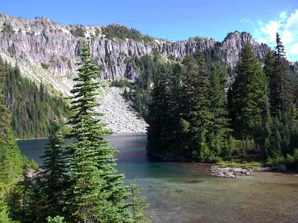 Eucine Lake and Tolmie Peak