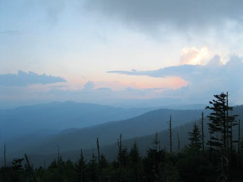 View from Clingmans Dome parking area
