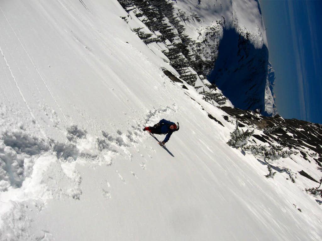 Going up to Needle Peak