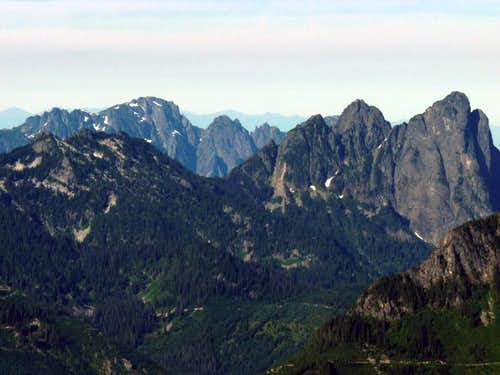 Mount Index and Mount Baring