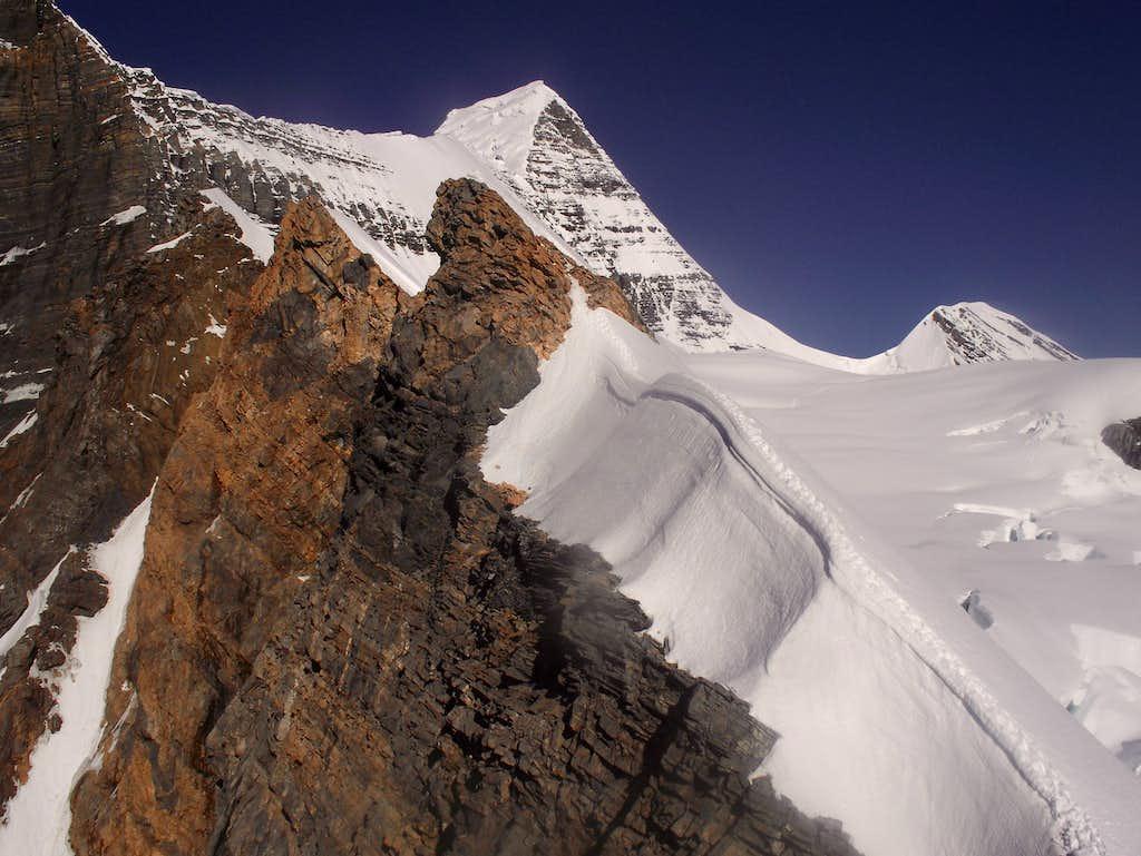 Our route to Dome via knife-edge ridge