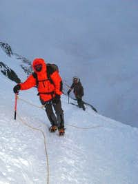 Final push to the summit of Mont Blanc
