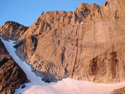 Kieners: A great all around alpine route.  Snow to low 5th class rock.