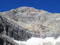 East Face Direct - Route Photo