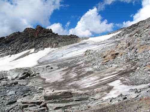 The Lassacherkees glacier below Radeckscharte col