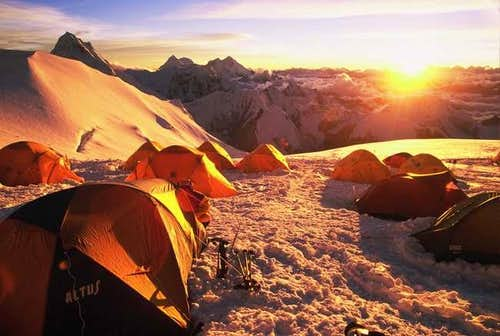 Sunset from C2 (7400M) on Cho...