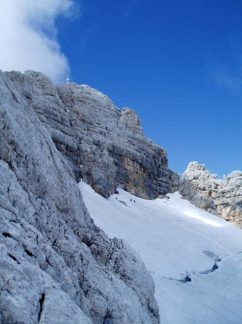 Super-Ferrata Dachstein: Rock fall and Spiderwoman