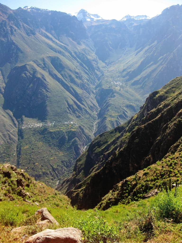 Quebrada Sepregina from the other side of Colca Canyon