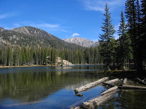 Gold Creek Lake during the...