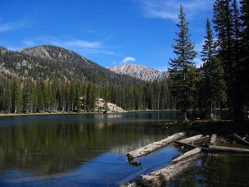 Gold Creek Lake during the...