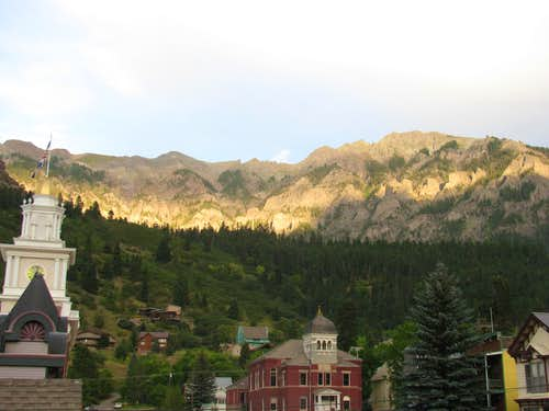 Sunset at the Ouray Brewery