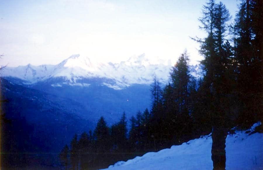 Dawn on Chamolé Ski Wood Run Inconclusive Approach 1969