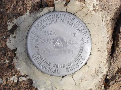The Bench Mark on Mt....