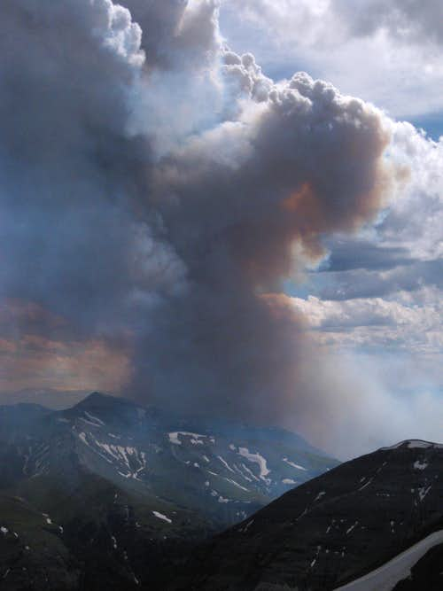 Wiggins Peak and Wildfire