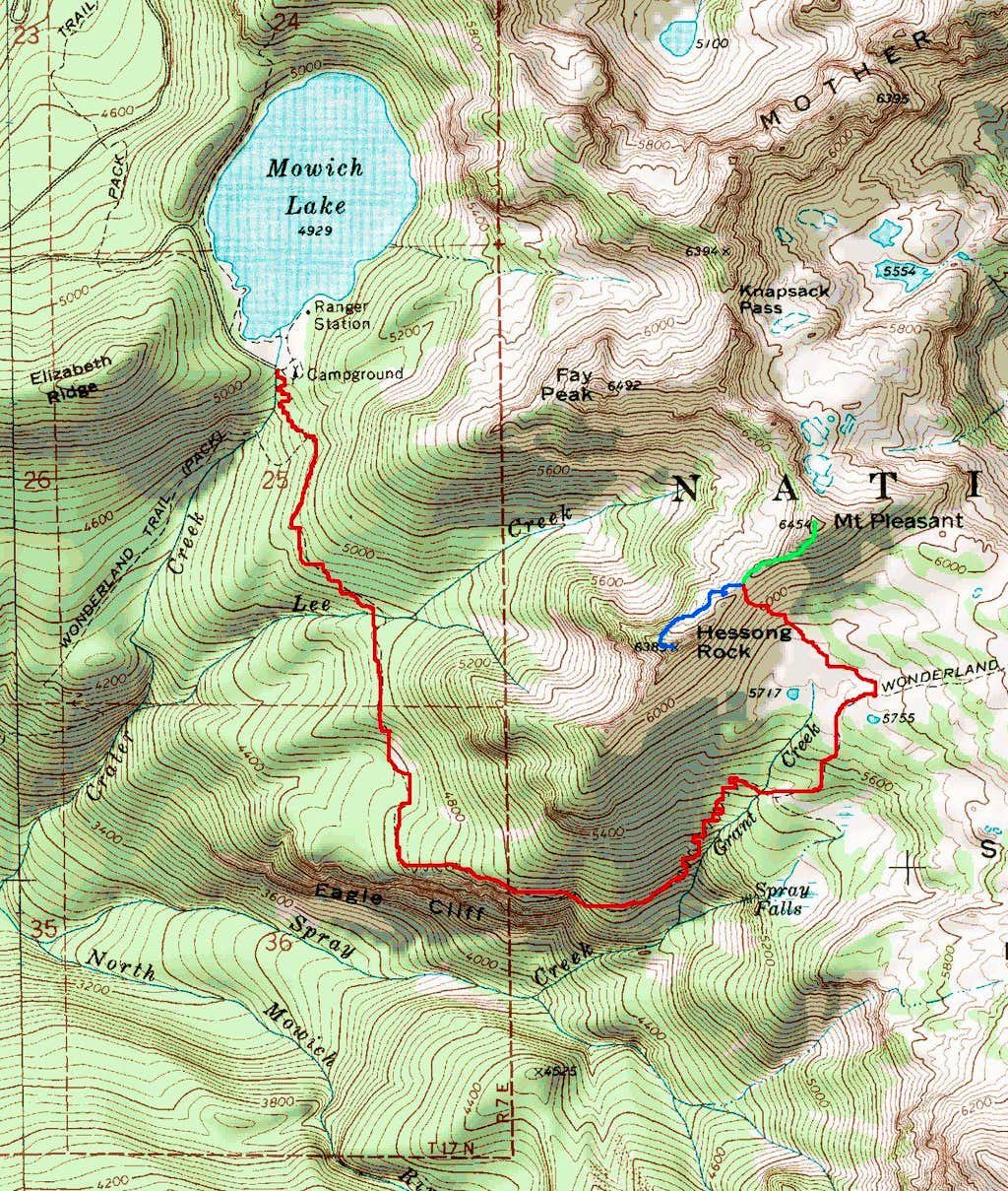 Route to Hessong Rock and Mount Pleasant