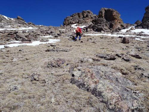 Pushing toward the summit plateau