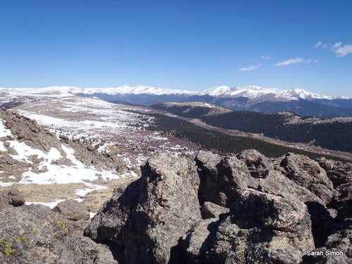 Views north-northwest from the summit
