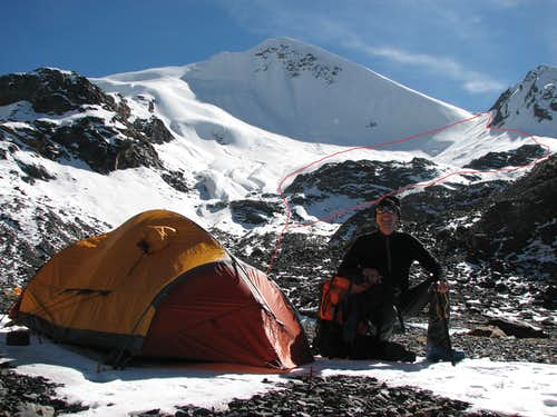 Camp 5404m in Zhomu valley