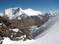 Kaluxung (6674m) from the summit ridge of Jitan Zhoma