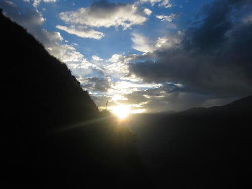 Sunset over Colca Canyon