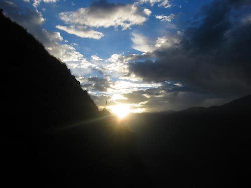 Sunset over Colca Canyon