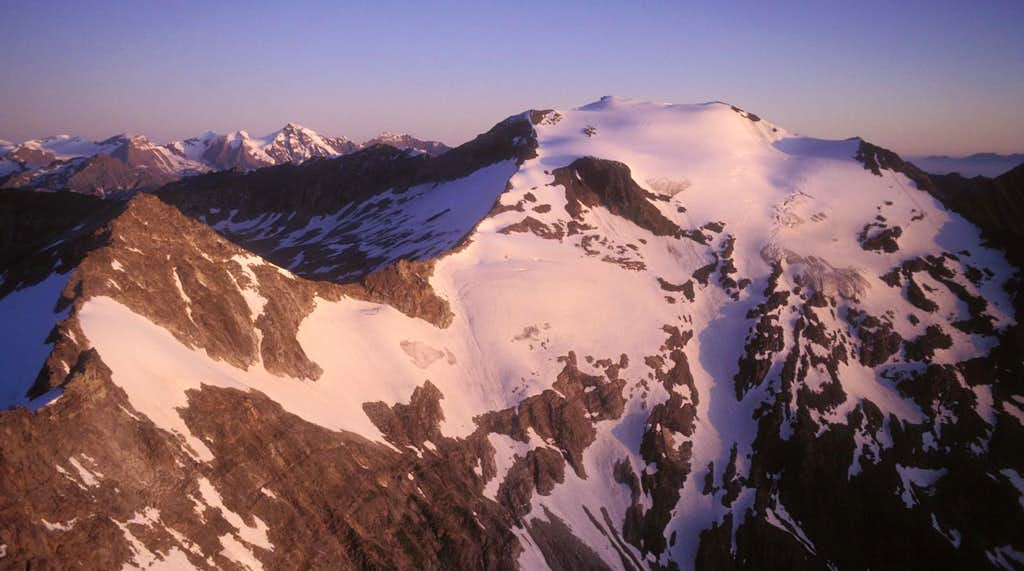 Hocharn seen at sunrise from...
