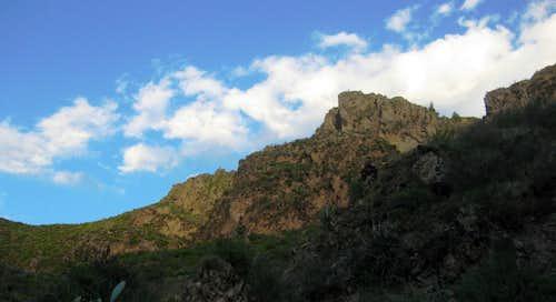 The southern rim of Colca Canyon