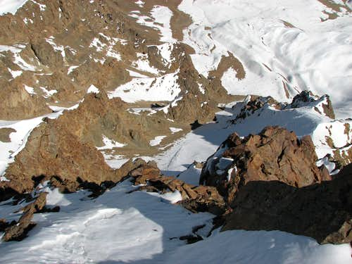 East Couloir route