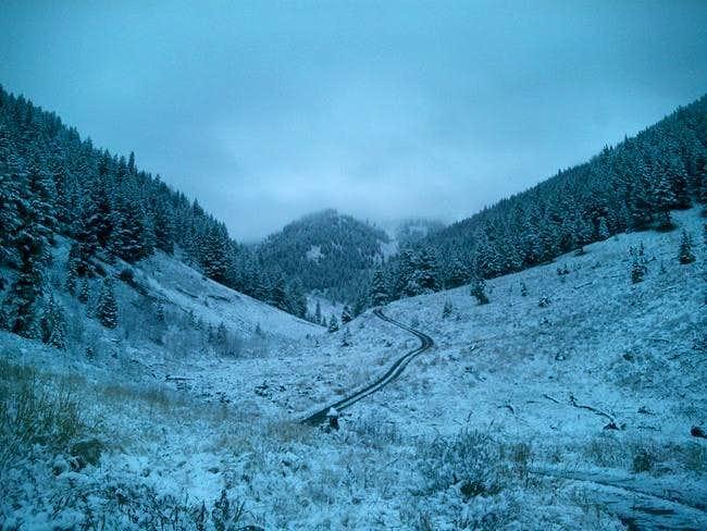 Though the Lake Creek Road...