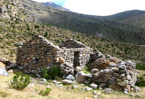 Ruins in Quebrada Huayuray, Peru