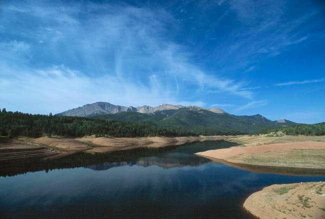 Pikes Peak près de Colorado...