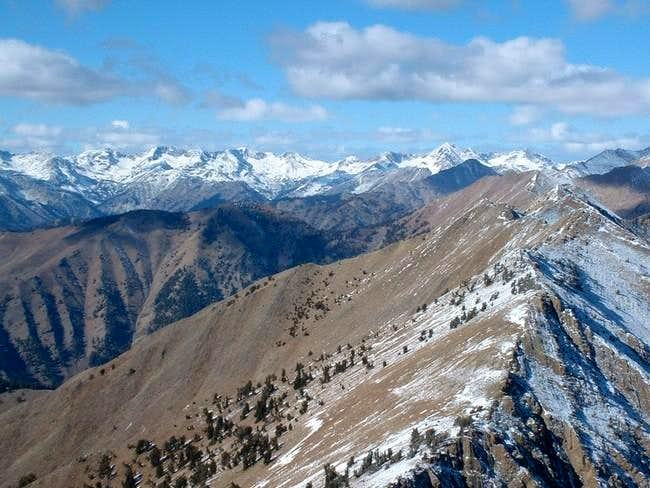 The Boulder mountains from...