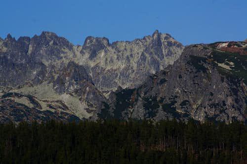 Rumanov štít - Ganek ridge