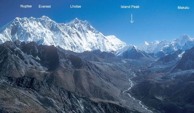 Island Peak and the giants...