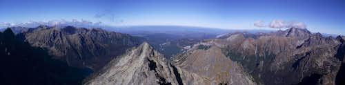 Świnica (2301m) - Dolina Białki - Łomnica (2634m) from Rysy