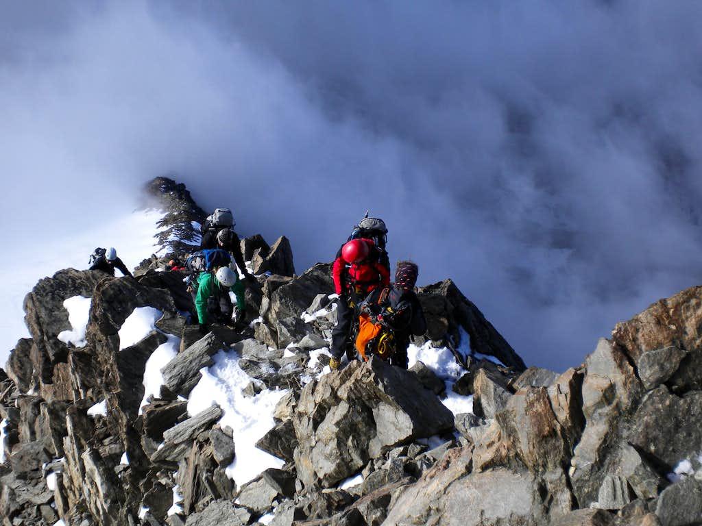 Weissmies south ridge