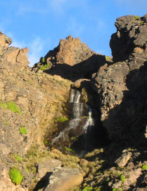 Waterfall in the highlands, south east of Chivay