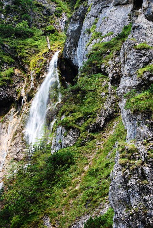 Waterfall at the Hias-klettersteig