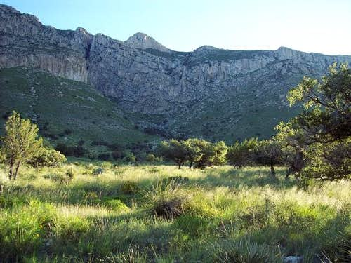 Pine Springs Canyon from the...