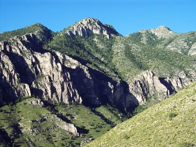 Guadalupe Peak (top right)...